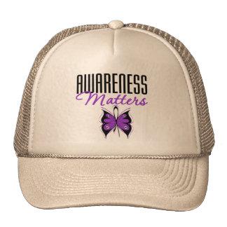 Materias de la conciencia de la epilepsia gorros bordados