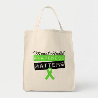 Materias de la conciencia de la salud mental bolsas