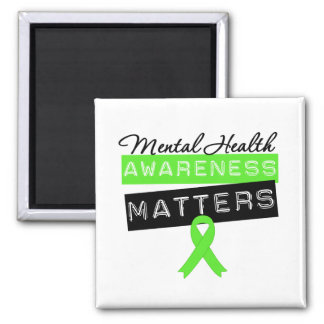 Materias de la conciencia de la salud mental imán de frigorifico