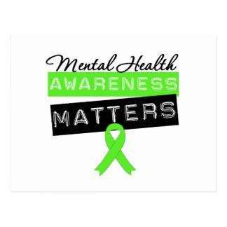 Materias de la conciencia de la salud mental postales