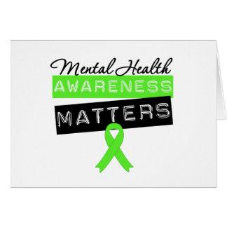 Materias de la conciencia de la salud mental felicitación