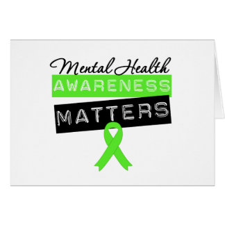 Materias de la conciencia de la salud mental tarjeta de felicitación