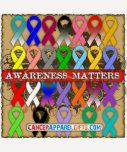 Materias de la conciencia del cáncer - cintas de camiseta