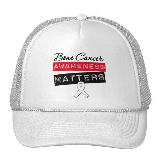 Materias de la conciencia del cáncer de hueso gorra
