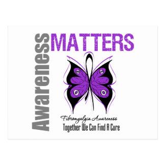 Materias de la conciencia del Fibromyalgia Tarjetas Postales