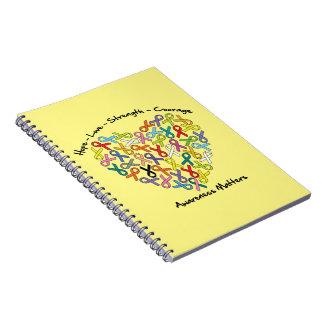 Materias de la conciencia del valor de la fuerza libros de apuntes con espiral