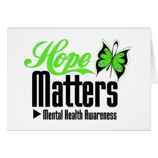 Materias de la esperanza de la conciencia de la tarjeta de felicitación