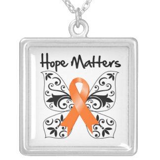 Materias de la esperanza de la esclerosis múltiple colgante cuadrado
