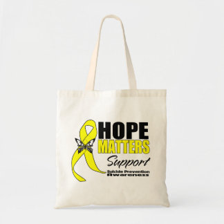 Materias de la esperanza de la prevención del suic bolsa tela barata