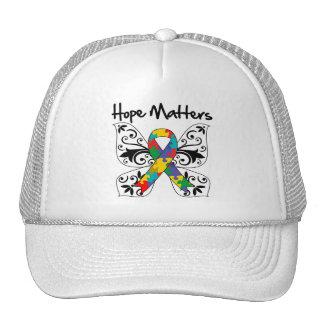 Materias de la esperanza del autismo gorra
