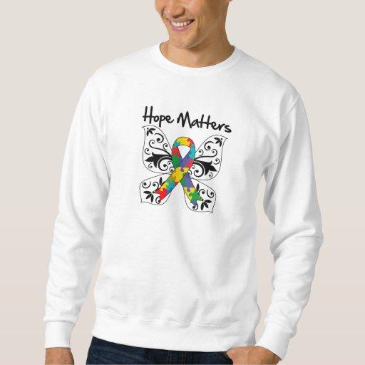 Materias de la esperanza del autismo pulovers sudaderas