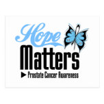 MATERIAS de la ESPERANZA del cáncer de próstata Postales