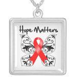 Materias de la esperanza del cáncer de sangre collar personalizado