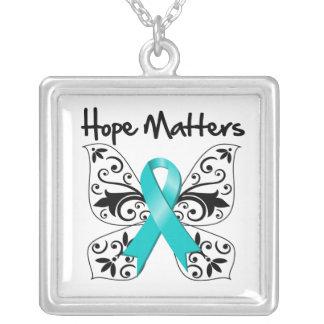 Materias de la esperanza del cáncer ovárico joyerias personalizadas