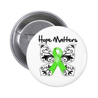 Materias de la esperanza del linfoma de Non-Hodgki Pin Redondo De 2 Pulgadas