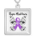 Materias de la esperanza del lupus collar personalizado