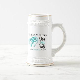 Materias de la esperanza para mi esposa - cáncer jarra de cerveza