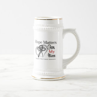 Materias de la esperanza para mi sobrina - cáncer  jarra de cerveza
