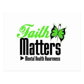 Materias de la fe - conciencia de la salud mental postal