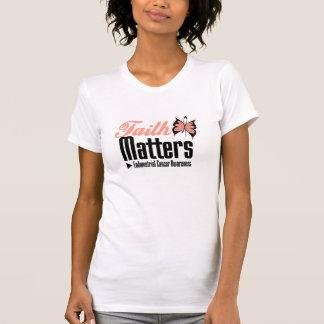 MATERIAS de la FE del cáncer endometrial Camisetas
