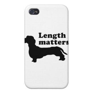Materias de la longitud Dachshund iPhone 4 Coberturas