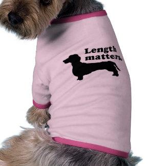 Materias de la longitud Dachshund Camisetas De Mascota