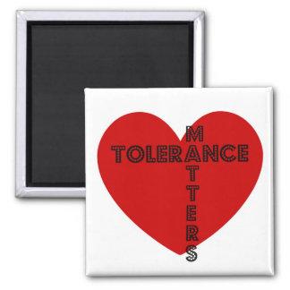 Materias de la tolerancia imán cuadrado