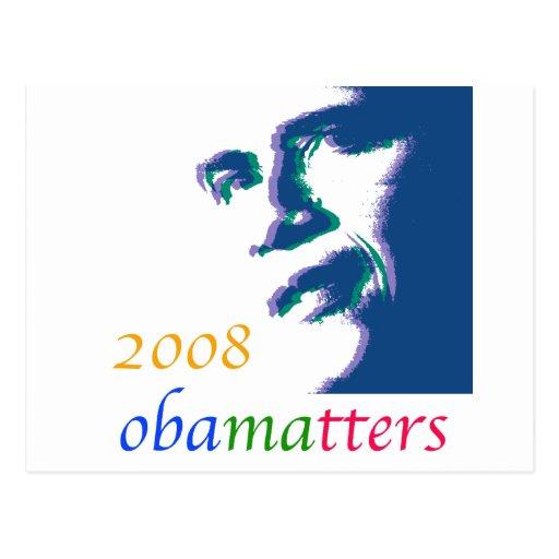 Materias de Obama Postales