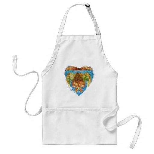 Materias del corazón:  Mi corazón del arco iris Delantal