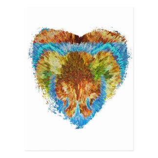Materias del corazón:  Mi corazón del arco iris Postal