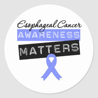 Materias del esófago de la conciencia del cáncer pegatina redonda