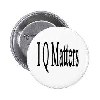 Materias del índice de inteligencia pin redondo de 2 pulgadas