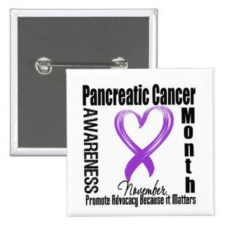 Materias del mes de la conciencia del cáncer pancr pin