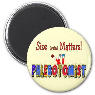 Materias del tamaño de Phlebotomist (vena) Imán Redondo 5 Cm