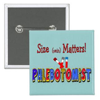 Materias del tamaño de Phlebotomist (vena) Pin Cuadrado