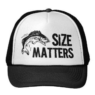 ¡Materias del tamaño! Diseño divertido de la pesca Gorras De Camionero