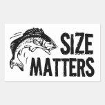 ¡Materias del tamaño! Diseño divertido de la pesca Rectangular Pegatina