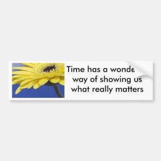 Materias del tiempo pegatina de parachoque