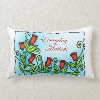 Materias diarias almohada