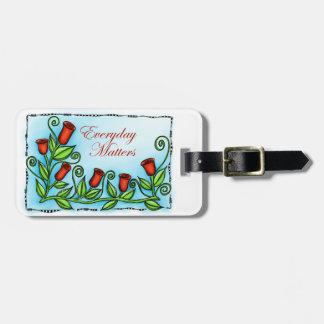 Materias diarias etiquetas bolsa