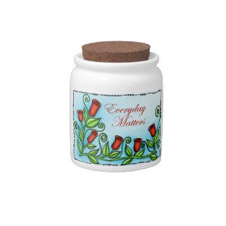 Materias diarias jarra para caramelo