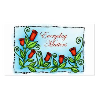 Materias diarias tarjetas personales