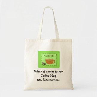 Materias divertidas del tamaño de la taza de café bolsa tela barata
