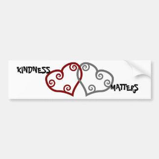 Materias entrelazadas de la amabilidad de los cora pegatina para auto