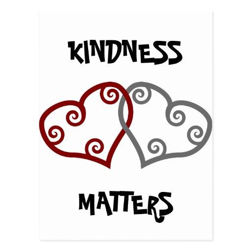 Materias entrelazadas de la amabilidad de los cora tarjeta postal