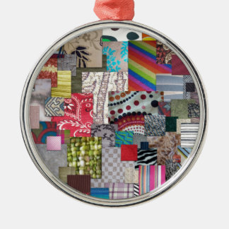 Materias textiles adorno redondo plateado