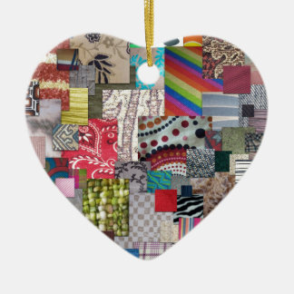 Materias textiles adorno de cerámica en forma de corazón