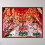 Materias textiles, moda, usando las materias texti posters