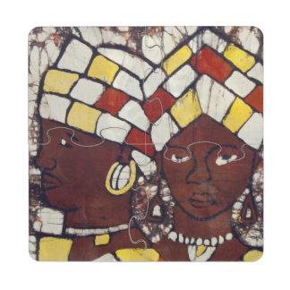 Materias textiles pintadas a mano que representan