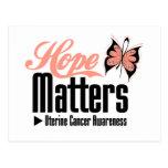 MATERIAS uterinas de la ESPERANZA del cáncer Tarjetas Postales